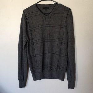 Express 100% wool plaid vneck sweater